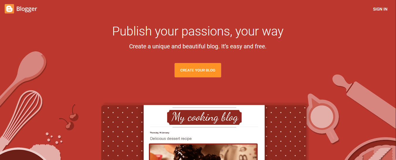 Cara Membuat Blog di Blogger (Gratis, Praktis, dan Menghasilkan) step 1